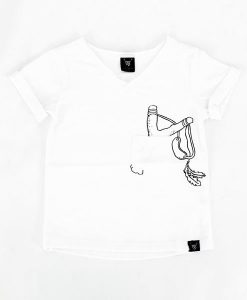 White Trouble Maker Tee