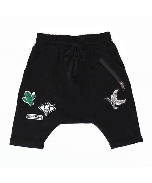 Unisex Black OOVY Tribe Shorts