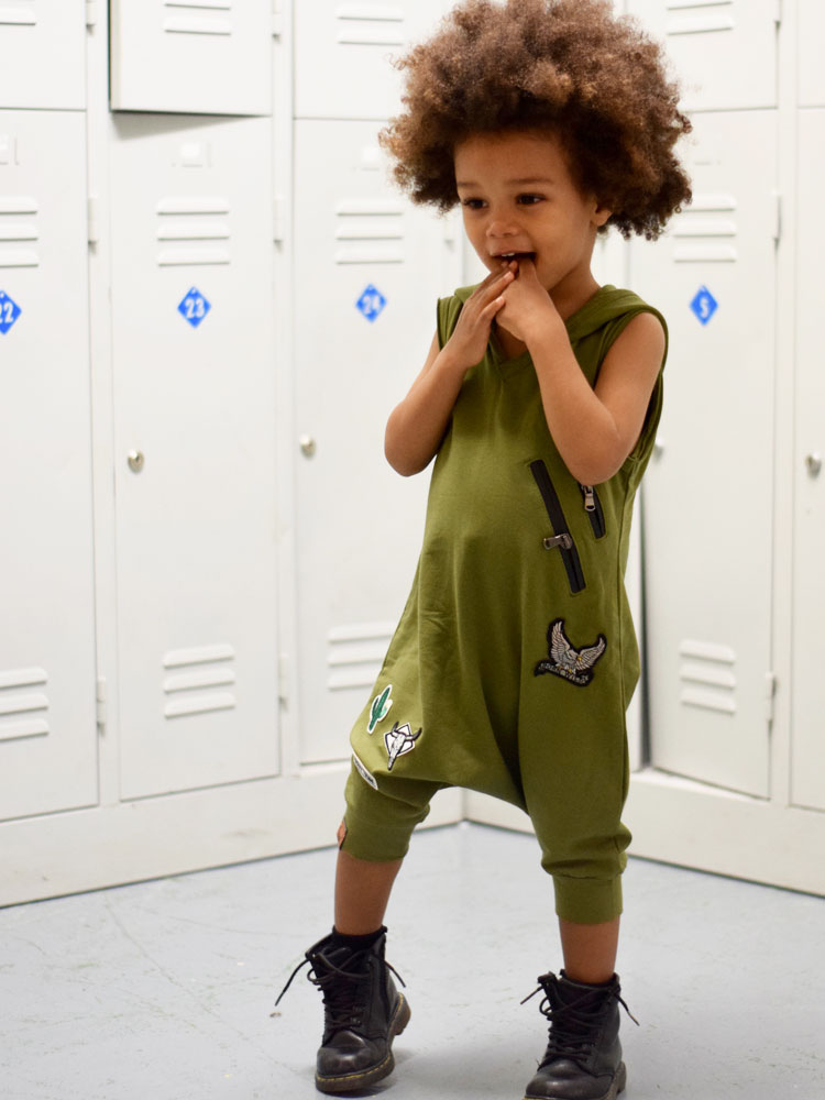 OOVY Kids Olive Tribe Playsuit