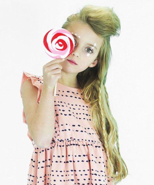 OOVY Kids Pink Splash Dress