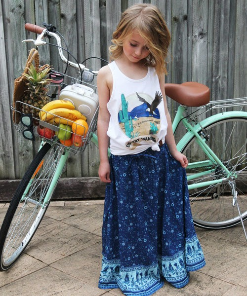 OOVY Boho Wildflower Skirt