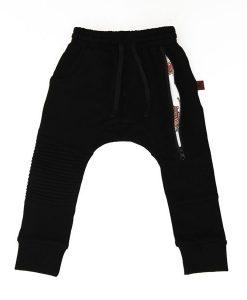 OOVY Black Inked Zip Pants