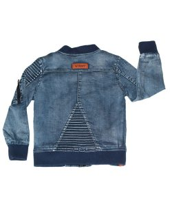 OOVY Denim Distressed Bomber Jacket