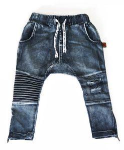 OOVY Denim Distressed Biker Pants