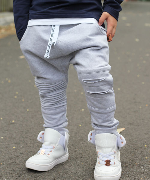OOVY Grey Distressed Pants