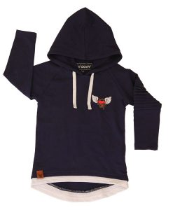 OOVY Navy Kind Heart Hoodie Top