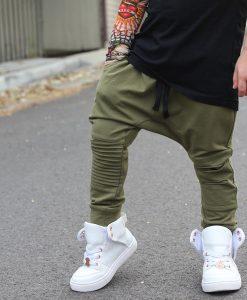 OOVY Khaki Distressed Pants
