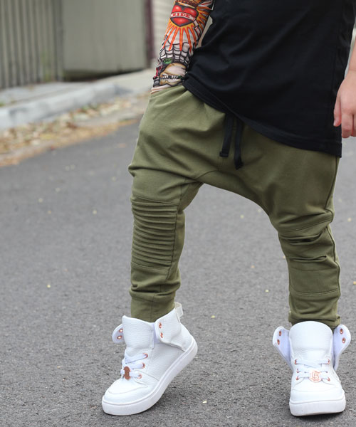 OOVY Khaki Distressed Pants