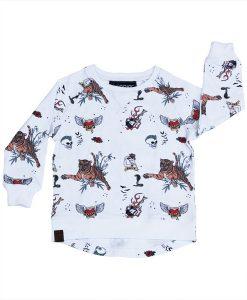 OOVY Kids Inked Crew Neck Sweatshirt