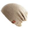 OOVY Latte Knit Slouch Beanie