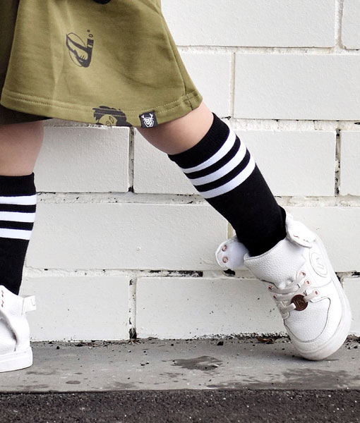 OOVY Kids Black Stripe Socks