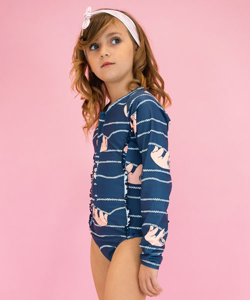OOVY Girls Sunsuit Lazy Days Sloth