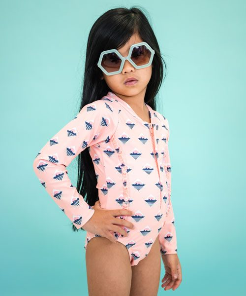 OOVY Girls Sunsuit Retro Island