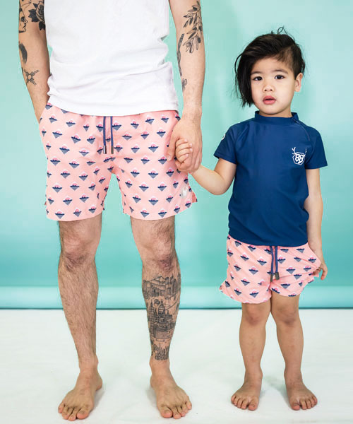OOVY Retro Island Father & Son Boardshorts Set