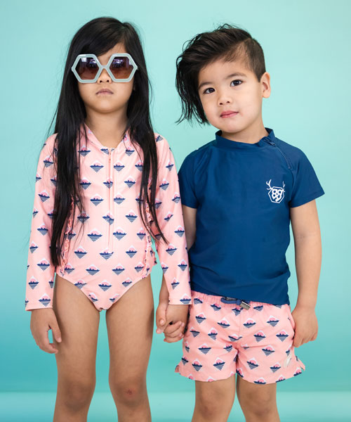 OOVY Girls Sunsuit Retro Island