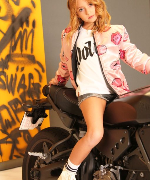 OOVY Kids Girls Pout Bomber Jacket
