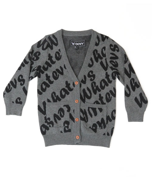 OOVY Kids Unisex Whatevs Knit Cardigan