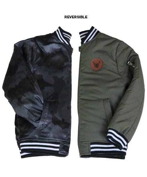 OOVY Kids boys Olive Camo Bomber Jacket
