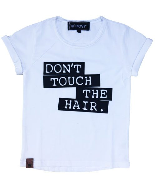 dont touch the hair tee by OOVY Kids