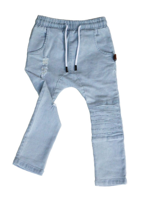 OOVY Kids Blonde Wash Distressed Denim Jeans