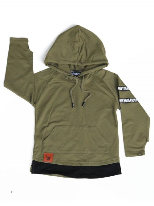 OOVY Kids Olive Hooded Top