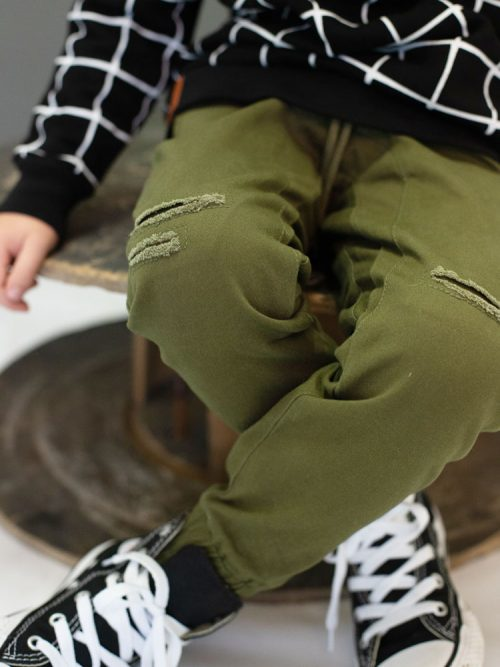 OOVY Kids Olive Distressed Chinos