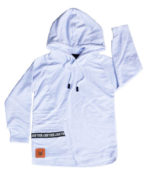OOVY Kids White Hooded Top