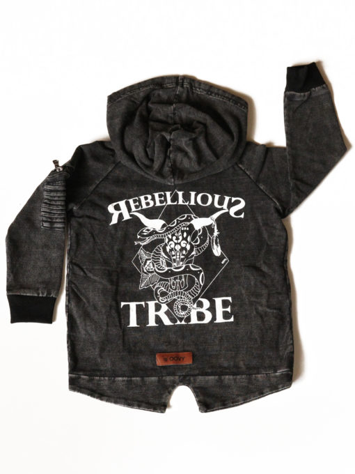OOVY Kids Rebellious Tribe Acid Wash Hoodie