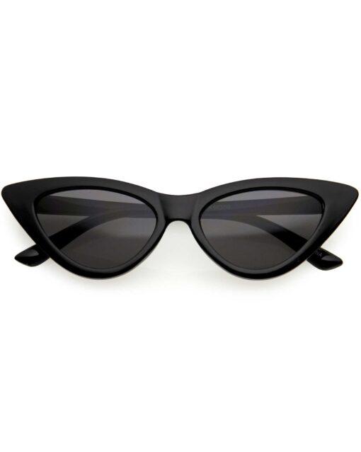 Kids Black Retro Cat Eye Sunglasses