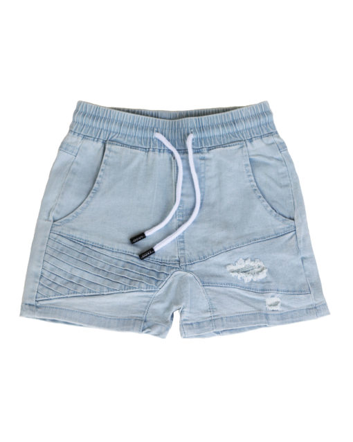OOVY Kids Blonde Wash Denim Shorts