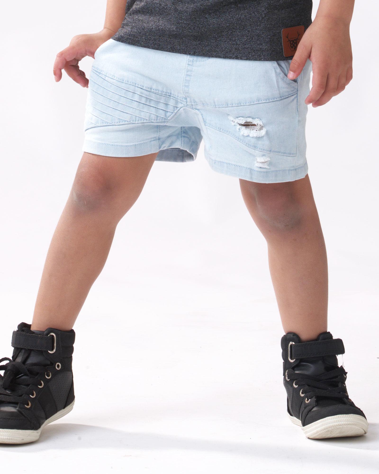 OOVY Kids Blonde Wash Denim Shorts
