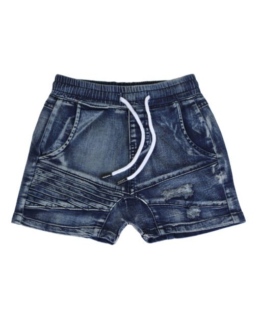 OOVY kids Navy Stone Wash Denim Shorts