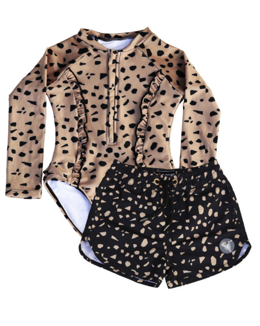 OOVY Kids Girls Terrazzo Sunsuit & Boardshorts