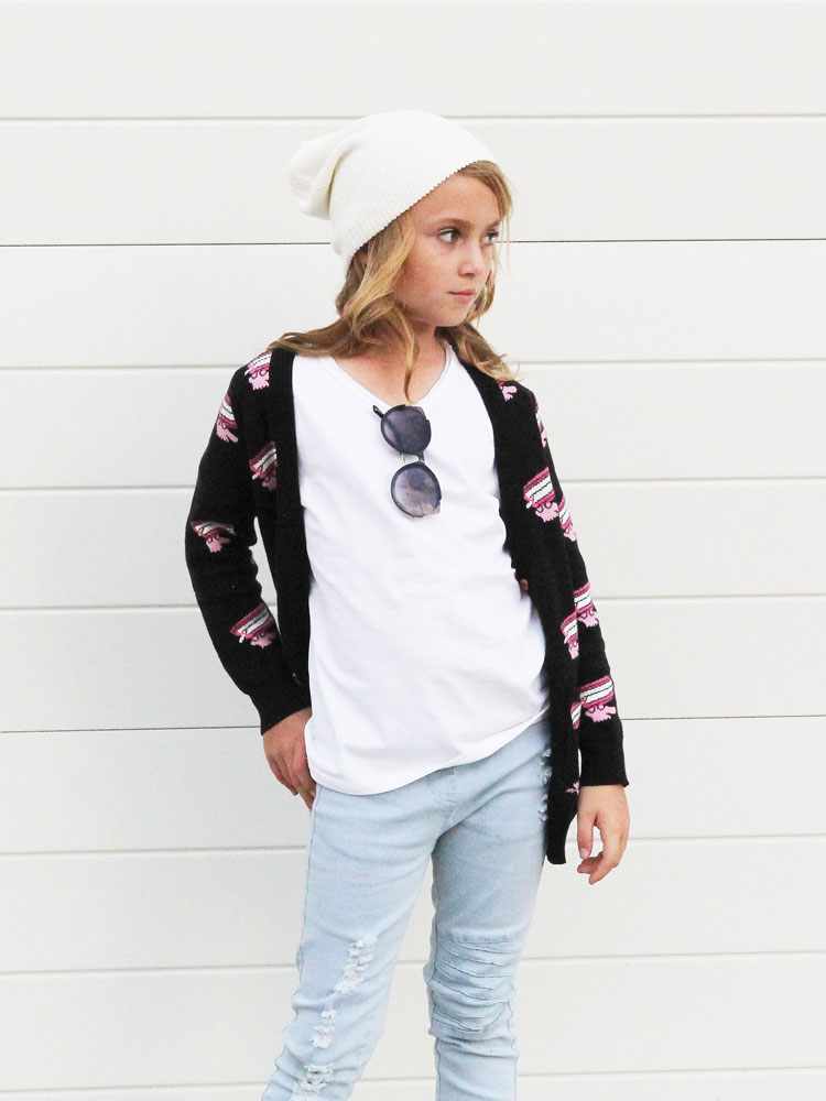 OOVY Kids Chatting Teeth Cardigan