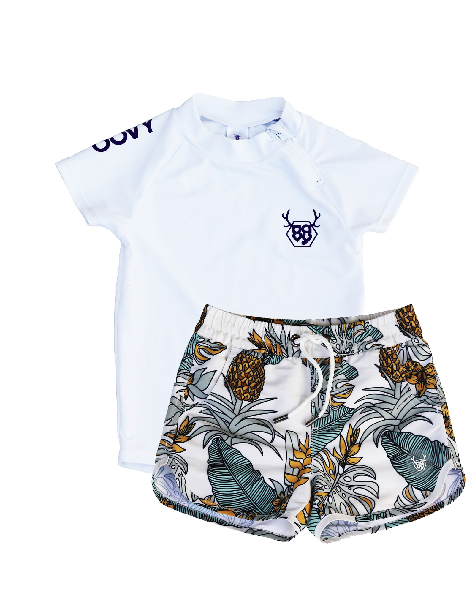 OOVY Kids Bahamas Boardshorts and Rashie Set