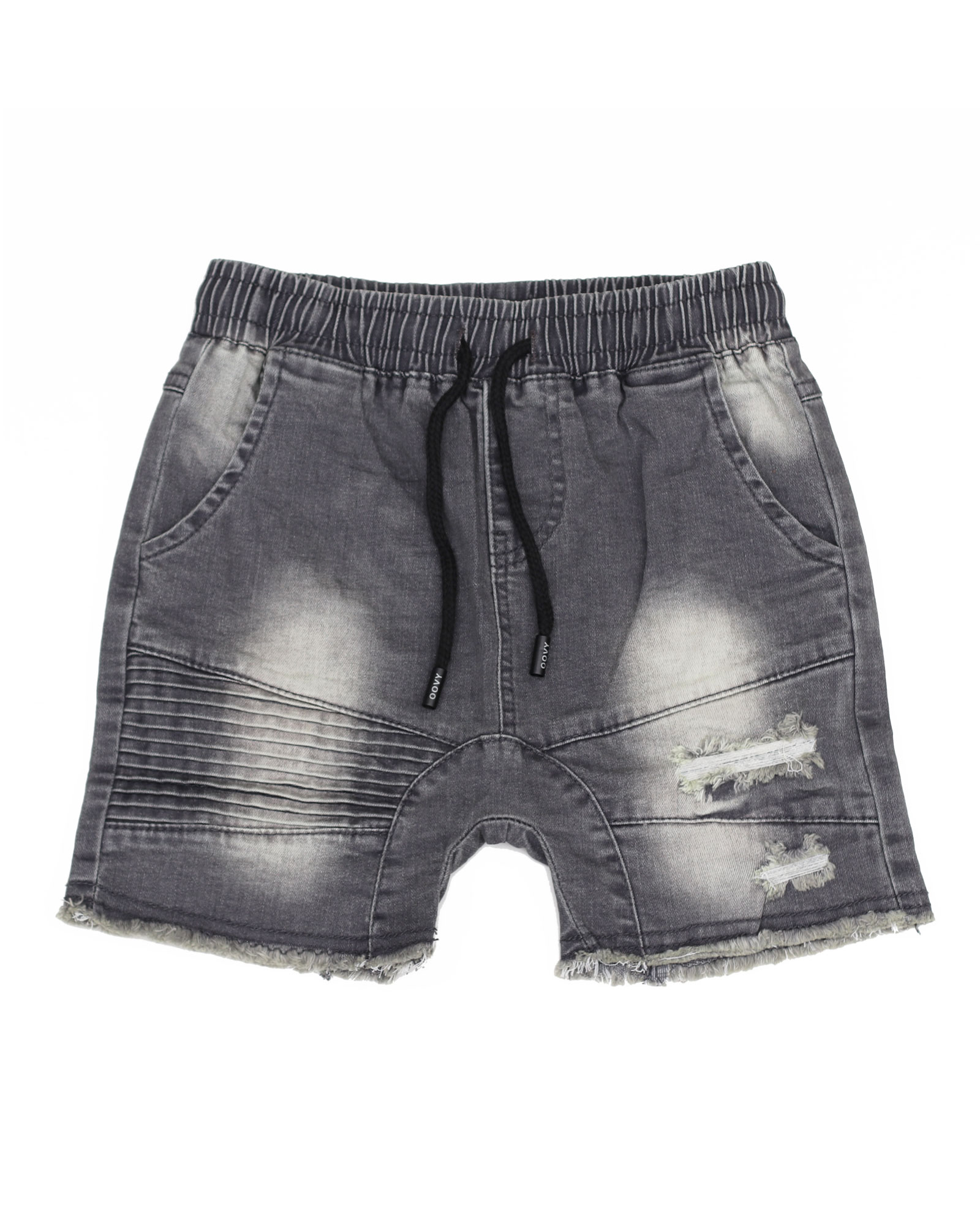 OOVY Kids Grey Stone Wash Denim Shorts