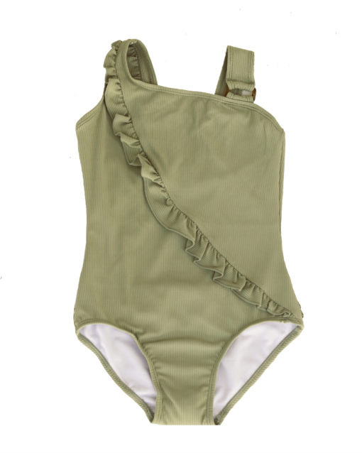 OOVY Kids Fern Eco Ribbed Swimsuit