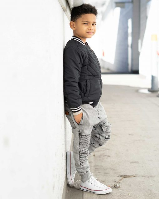 OOVY Kids Black Reversible Bomber Jacket