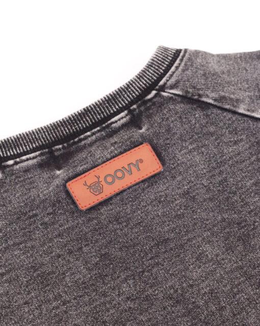 OOVY Kids Vintage Grey Mineral wash crew neck Sweater