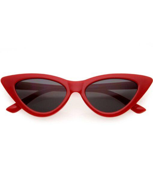 Kids Red Retro Cat Eye Sunglasses