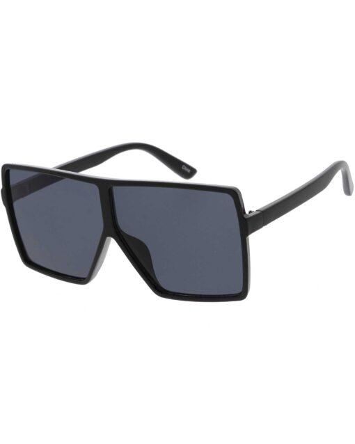 Black Kids Oversized Square Sunglasses