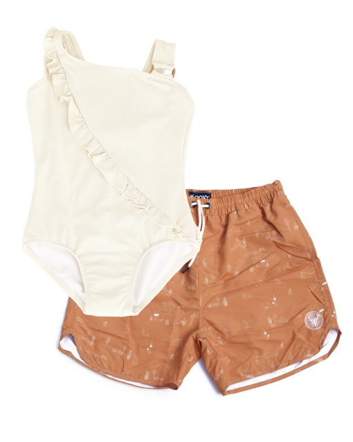 OOVY Father Desert Boardshorts and Coconut Swimsuit Gift set