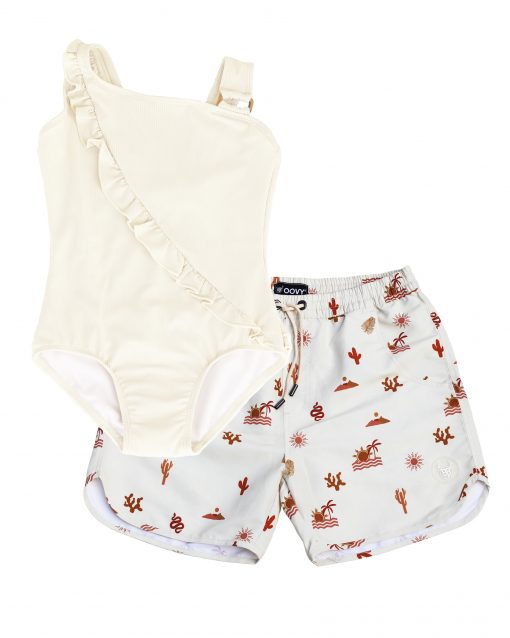 OOVY Father Oasis Boardshorts and Coconut Swimsuit Gift set