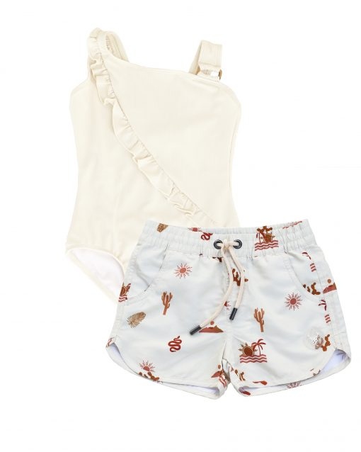 OOVY Kids Oasis Boardshorts and Coconut Swimsuit Gift set