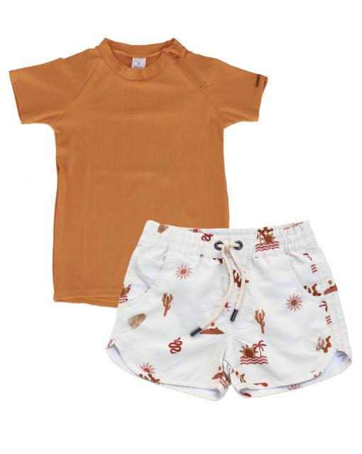 OOVY Kids Oasis Boardshorts and Desert Rashie Gift set