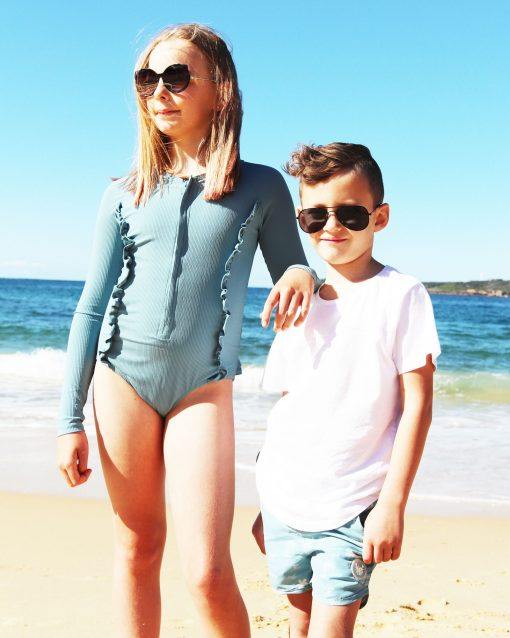 OOVYKids Lagoon Sunsuit Girls Swimwear